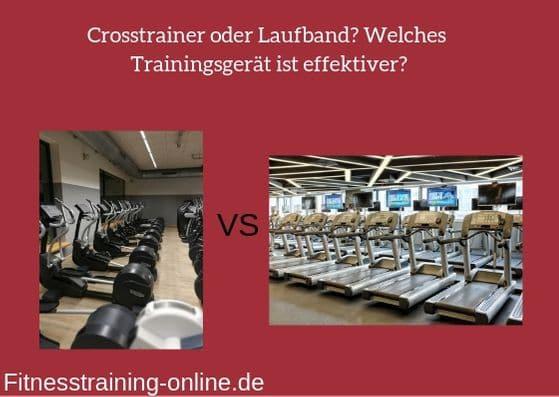 crosstrainer oder laufband bild